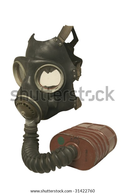 Old Gas Mask Isolated On White Stock Photo (Edit Now) 31422760