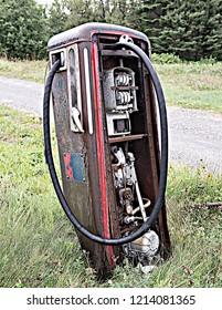 Old gas pump Newfoundland Canda