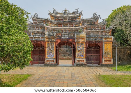 b4ee65cda061ac Old Gate Imperial City Complex Hue Stock Photo (Edit Now) 588684866 ...