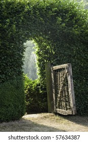 old gate into the garden