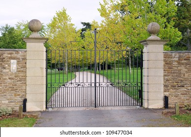 Old Gateway and Drive of a Country Estate in Rural England