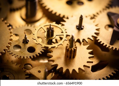 Old gears and cogs macro