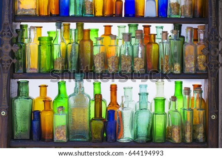 0639d25829b Old German Bottles Colored Glass Stock Photo (Edit Now) 644194993 ...