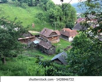 Old german houses from Viseu de Sus Romania