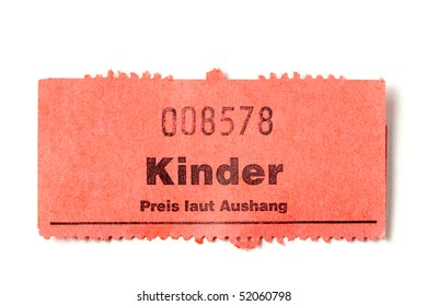 old german paper ticket