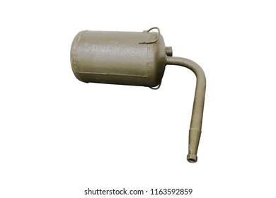 old German single-shot high-explosive flamethrower, isolate