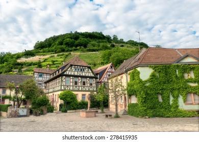 old german village heppenheim in germany