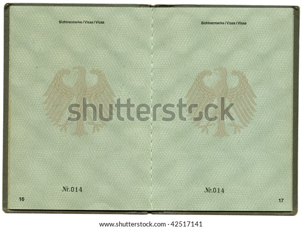 Old Germany Aliens Passport
