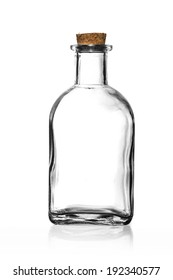 Old Glass bottle isolated on white