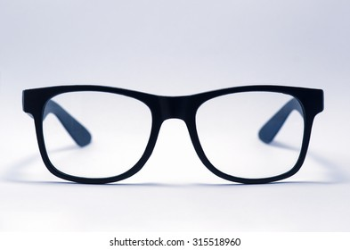 old glasses isolated on a white background