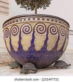 an old glazed urn in Wienna