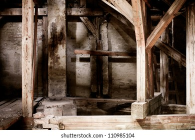 an old gloomy attic
