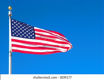Old Glory Blowing in the Breeze