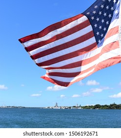 Old Glory at Pearl Harbor Hawaii