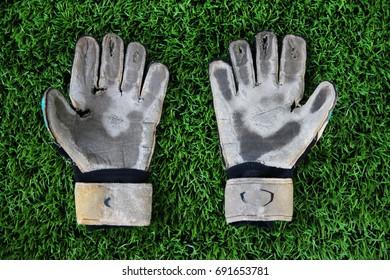 old Goalkeeper Gloves