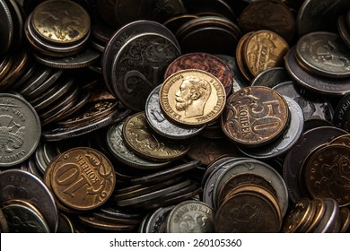 the old gold coin shines as hundred years ago and didn't lose in cost