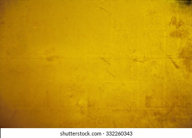 Old gold folding screen paper