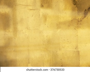 old gold wall texture closeup