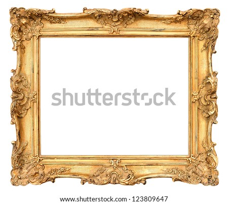 Old Golden Frame Beautiful Vintage Background Stock Photo (Edit Now ...