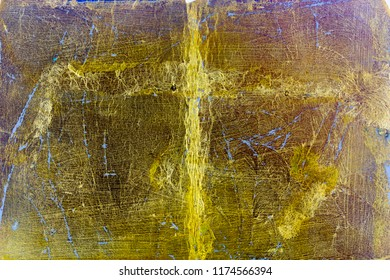 Old golden surface.