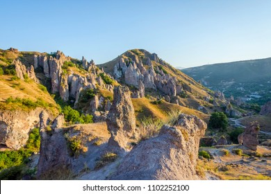 Old Goris town, Armenia with the unique stone formations