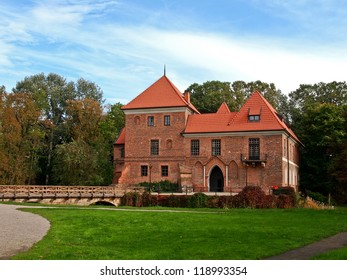 Old gothic castle in Oporow near Kutno,Poland