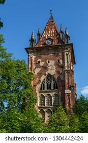 Old Gothic chapel in Pushkin (Tsarskoe Selo), Russia