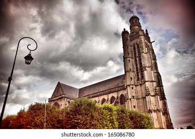 old gothic church in Compiegne, France