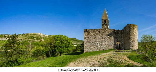 Old Gothic fortress church in Karst village of Hrastovlje, Slovenia
