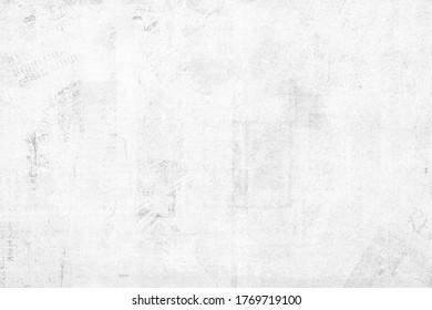 OLD GRAINY GRUNGE PAPER TEXTURE BACKGROUND, BLANK NEWSPAPER PATTERN, VINTAGE BLACK AND WHITE WALLPAPER DESIGN