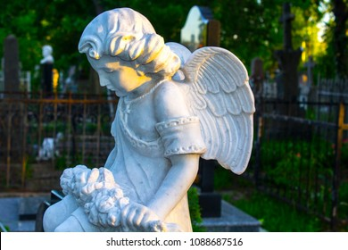 old grave angel statue