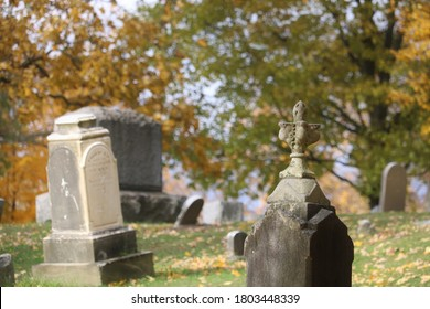 Old Gravestones in the fall