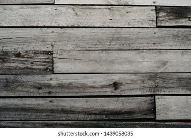 Old gray wood floor background