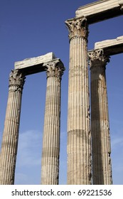 Old Greek columns