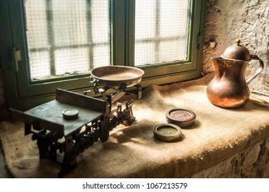 Old Greek merchant tools