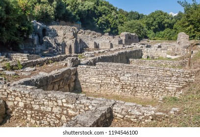 Old greek ruins in Butrint