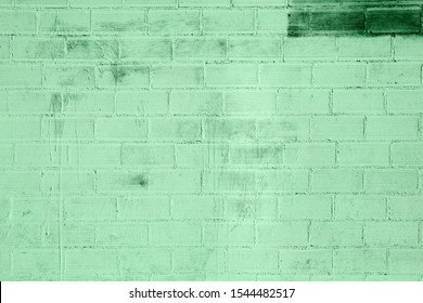 OLd green brick wall background