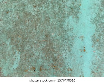 Old green paint metal plate texture background