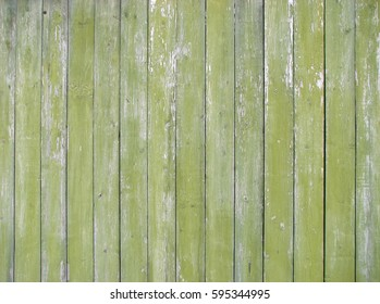 Old green painted wooden planks as background