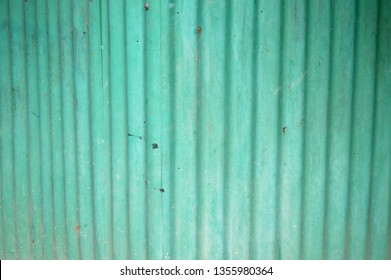 old green zinc wall background