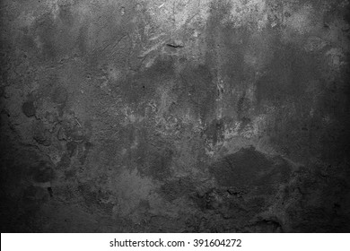 Old grey background. Black background. Grunge wall