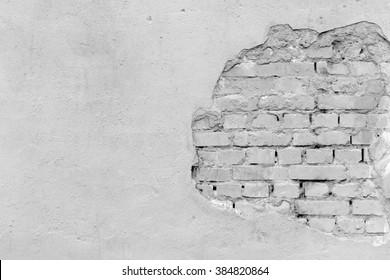 Old grey brick wall.background
