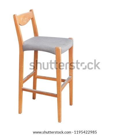 Fine Old Grey Fabric Wooden Leg Bar Stock Photo Edit Now Ibusinesslaw Wood Chair Design Ideas Ibusinesslaworg