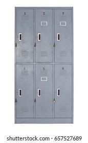 old grey metal locker used in gyms or swimming pool, filter effect