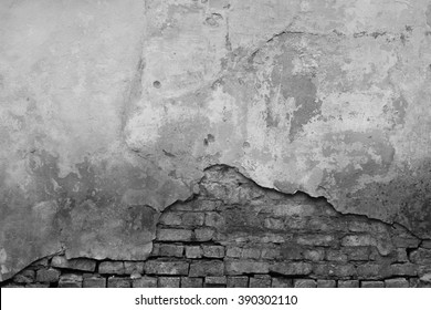 Old grey wall. Grunge wall texture background
