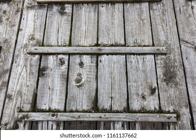 Old grey wood lid for outdoor garden use