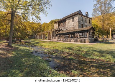 Old Grist Mill at Spring Mill State Park in Indiana.