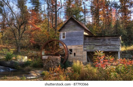 Old Gristmill in north Georgia, USA.