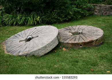 Old Gristmill stones, Ellanor C Lawrence Park, Fairfax County, Virginia