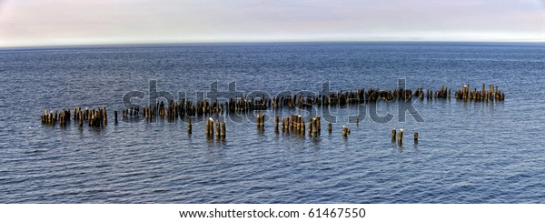old groyne in the Baltic sea